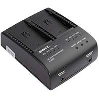 Swit Electronics S-3602F (S3602F) Sony NP-F Style Dual Channel Squential Charger / AC Adapter
