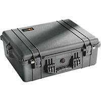 Peli Products 1600 Waterproof Flight Case with Foam insert (Internal Dimensions: W 55.6 cm x D 42.8 x H 20.4 cm) (Black)