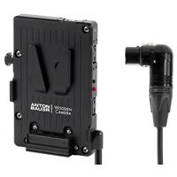 Wooden Camera Pro V-Mount Battery Plate - 4pin XLR Right Angle (p/n 260200)