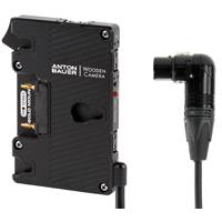 Wooden Camera Pro Gold Mount Battery Plate - 4pin XLR Right Angle (p/n 260300)