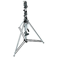 Manfrotto 087NW (087-NW) Wind-up chrome steel stand with safety release cable