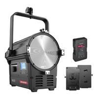 Rayzr 7 200 Daylight 7 Inch LED Fresnel Light - Standard with NHVM285 V-Mount Battery and V-Mount Battery Plate Bundle (p/n 70000049)