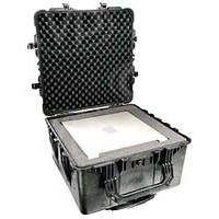 Peli Products 1640 Waterproof Flight Case with Foam - Black (Pelican, Pelicase) (Internal Dimensions: W 63.2 cm x D 63.2 cm x H 36.4 cm)