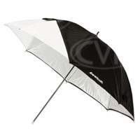Westcott 2012 32 inch Optical White Satin Umbrella with Removable Black Cover (860055)