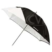 Westcott Optical White Satin Umbrella with Removable Black Cover - Various Sizes