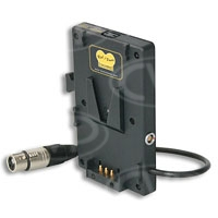 Hawk-Woods RP-CF1 (RPCF1) Reel Power Camera Fitting V-Mount - XLR/ Fischer/ 50W Regulated Power-Con