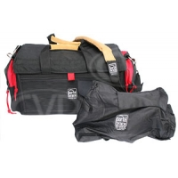 Portabrace DVO-1RQS-M4 (DVO1RQSM4) DV Organizer Bag and Quick Slick (internal dimensions: 43.18 x 19.05 x 20.96 cm) (black with red trim)