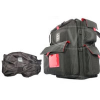 Portabrace BK-1NRQS-M3 (BK1NRQSM3) Backpack Camera Case with Quick Slick rain cover for JVC GY-HM100, Sony DSR-PD150 + Sony DSR-PD170 (internal dimensions: 38.10 x 13.34 x 25.40 cm) (black)