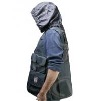 Portabrace VV-LBLH (VVLBLH) - Large Video Vest / Production Jacket with Hood (42-46 inch chest size) - Black