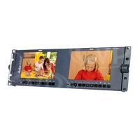 Datavideo TLM-702HD (TLM702HD) 2 X 7-inch HD Monitor - HD/SDI, HDMI input Rackmounted