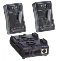 IDX EP-9/2 (EP-9/2) 2 x ENDURA-HL9 Batteries, 1 x VL-2Plus Sequential Charger w/ AC Adaptor (60W)