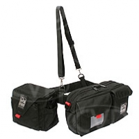 Portabrace BP-3B (BP3B) Waist Belt Production Pack with two pouches (includes AC pouch) for tapes, microphones, mic stands, wide angle lens adapters and more (black)