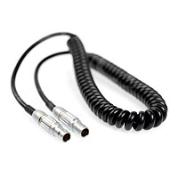CVP SD-XL-LL (SD-XL-LL) Audio Mixer Cable LEMO-5 to LEMO-5 for Sound Devices 702T, 744T, 788T Audio Recorder with Timecode to Ambient Lockit, Masterlock or Slate - coiled cable (approx 0.8m)