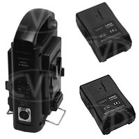 Swit Electronics SP-82/3802S (SP823802S) Battery Kit - 2 x S-8082S V-Mount Batteries & 1 x SC-3802S Sequential Charger