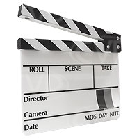 High Quality Acrylic Clapperboard / Slate