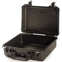 Peli 1500LF (1500-LF) Hard Carry Case with Lid Foam (Black) (Internal Dimensions 432 x 290 x 155mm)