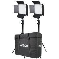 Datavision DVS-LEDGO-900LK2 (DVSLEDGO900LK2) Dual LEDGO-900 Daylight Location Lighting Kit with, 2x Stands and Carry Case