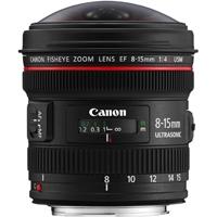 Canon EF 8-15mm f/4L Fisheye UsM L Series Fisheye Zoom Lens (p/n 4427B005AA)
