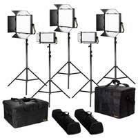 Ikan LB-3F2H (LB3F2H) Lyra Bi-Colour 5-Point LED Soft Panel Light Kit including 3x LB10 and 2x LB5