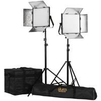 Ikan LW10-2PT-KIT (LW102PTKIT) Kit with 2x Lyra Daylight 1x1 LED Soft Lights