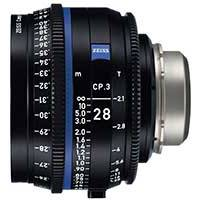 Zeiss CP.3 28mm T2.1 Compact Prime Cine Lens - EF Mount | Available in Feet and Meter Scale (2193-345 / 2193-340)