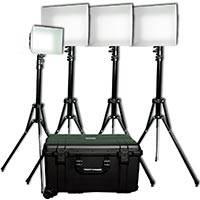 DataVideo DATA-PLK400 (DATAPLK400) 3x 308 Modular Daylight and 1x 160 Bi-Colour LED Reporter Kit