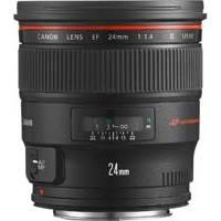 Canon EF 24mm f1.4L II USM L Series Wide Angle Lens (p/n 2750B005AA)