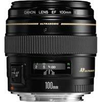 Canon EF 100mm f/2 USM fixed focal lens (p/n 2518A012AA)