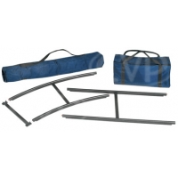Egripment Pack Track Kit (aluminium) includes 5 pack track straight sections, 3 pack track curved sections, 17 pack track crossbars, 1 pack track carry bag and 1 crossbar carry bag (159/KIT)