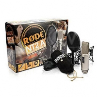 Rode NT2-A (RODENT2APACK) Multi Pattern Dual Condenser Microphone supplied with combined shock mount/popshield, 6m cable, dust cover and instructional DVD