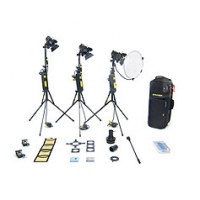 Dedolight KD3S (KD-3S) 3 head 150w standard dimmer kit with soft case