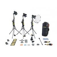 Dedolight KD3M (KD-3M) 3 head 150w master dimmer kit with soft case