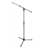 Proel RSM-200 (RSM200) Telescopic Microphone Stand with Telescopic Boom Arm (Black)