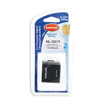 Hahnel HL-G070 (HLG070) 800 mAh Lithium Ion Battery Replacement for Panasonic VW-VBG070 - p/n 1000 171.2 (10001712)