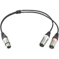 Sony EC-0.5X5F3M (EC0.5X5F3M, K-104) Microphone Cable 5-Pol XLR female to 2x 3-Pol XLR male