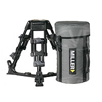 Miller 455 Baby Legs 2-Stage 100mm Alloy Tripod with ground spreader and softcase