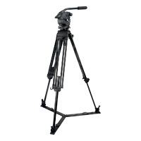 Vinten V8AS-CP2F System (V8ASCP2F) includes Vision 8AS Head (V4045-0001), Two-Stage CF Pozi-Loc Tripod (3772-3), Spreader (3363-3) & Soft Case (3358-3)