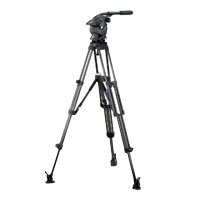 Vinten V10AS-AP2M System (V10ASAP2M) Vision 10AS Head (V4046-0001), Two-Stage Aluminium Pozi-Loc Tripod (3821-3), Spread-Loc (3781-3) & Soft Case (3358-3)