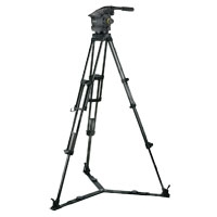 Vinten VB100-CP2 System (VB100CP2) includes Vision 100 Head (3466-3), Two-Stage CF Pozi-Loc Tripod (3772-3), Spreader (3363-3) & Soft Case (3340-3)