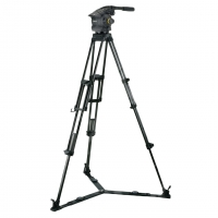 Vinten VB100-AP2 System (VB100AP2) includes Vision 100 Head (3466-3), Two-Stage Aluminium Pozi-Loc Tripod (3821-3), Spreader (3363-3) & Soft Case (3340-3)