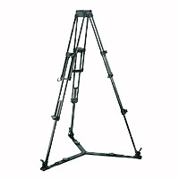Vinten 3821-3 (38213) Two-Stage ENG (100mm Bowl) Aluminium Pozi-Loc Tripod - Black (Ground Spreader Not Included)