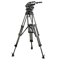 Vinten VB250-AP2M (VB250AP2M) Vision 250 (3465-3S) Dual Telescopic Pan Bars (3219-91), Two-Stage Aluminium Pozi-Loc Tripod (V4086-0001), Spread-Loc mid-level spreader (3781) and Soft Case (3341)