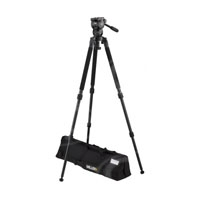Miller 1876 Compass 12 Solo DV 2-Stage Alloy Tripod System includes Compass 12 Fluid Head (1033) Solo DV Alloy Tripod (1630) Pan Handle (679) Solo DV Strap (1520) and Softcase (876)
