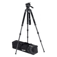 Miller 1857 Compass 25 Solo ENG 3-Stage Carbon Fibre Tripod System includes Solo ENG 3-Stage Carbon Fibre Tripod (1505) Pan Handle (694) Solo DV Strap (1520) and Softcase (872)