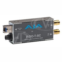 AJA FiDO-T-SC- Single channel SD/HD/3G SDI to Optical Fiber (SC Connector) with looping SD/HD/3G SDI output