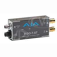 AJA FiDO-T-ST- Single channel SD/HD/3G SDI to Optical Fiber (ST Connector) with looping SD/HD/3G SDI output