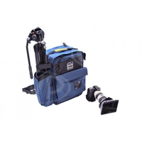 Portabrace BC-2N (BC2N) HDSLR Backpack Camera Case for Canon 5D Mark III, Nikon D1 and Sony Alpha a33 Cameras - Blue (Internal Dimensions: W: 30.4 cm x D: 20.3 cm x H: 45.0 cm)