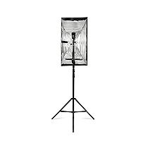 Westcott 2338 Apollo Strip Speedlite Reflector Kit includes Strip, adjustable shoe mount and 8ft light stand (860395)