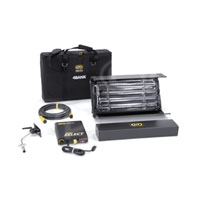 Kino-Flo KIT-244B-230U 2ft 4Bank Select Lighting Kit (1-Unit), 230VAC includes 2ft 4Bank Fixture, Ballast, Mount, Extension Cable, Lamp Case & Soft Case (KIT244B230U)