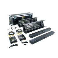 Kino-Flo KIT-2GF-230U Gaffer Select Kit (2-Unit), 230VAC includes 4ft 4Bank Fixture (x2), Ballast (x2), Mount (x2), Extension Cable (x2), Lamp Case (x2) & Gaffer Ship Case (KIT2GF230U)